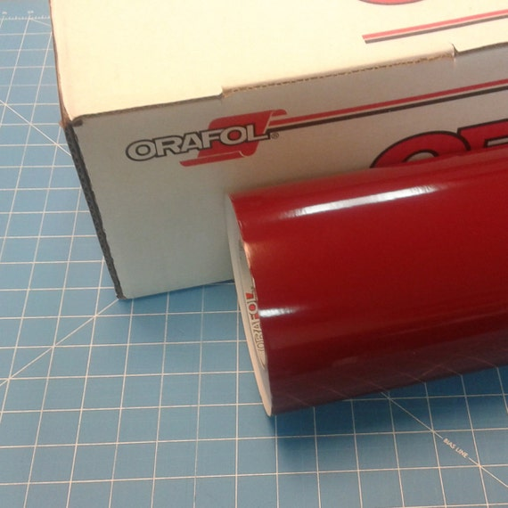 """Red Oracal 751 1 Roll 24/"""" X 10/' Sign Cutting Vinyl"""