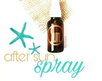 After Sun Spray•All Natural•Free of Chemicals•Organic•Essential Oil & Aloe Vera•Soothing Spray for Sunburn