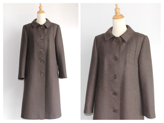 Early 1970s does 1940s Grey Sartorial Wool Coat by