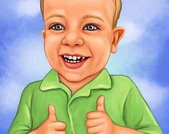 custom PORTRAIT of a CHILD