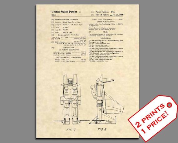 Official Megatron US Patent Art Print Transformers Generation 1 Decepticon 122