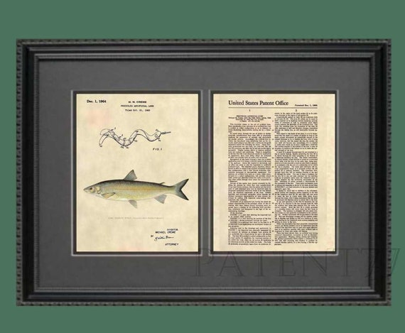 Antique Channel Catfish Fish 381 Reel Official Fishing Lure US Patent Art Print