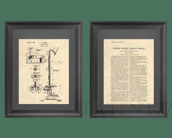 Stampe di brevetto vasca & doccia brevetto arte bagno etsy