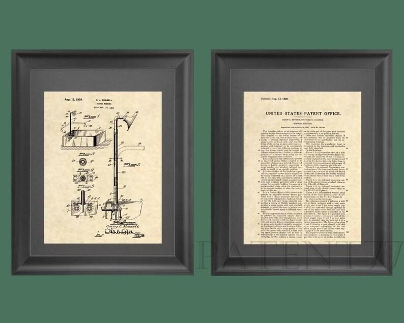 Stampe di brevetto vasca doccia brevetto arte bagno etsy