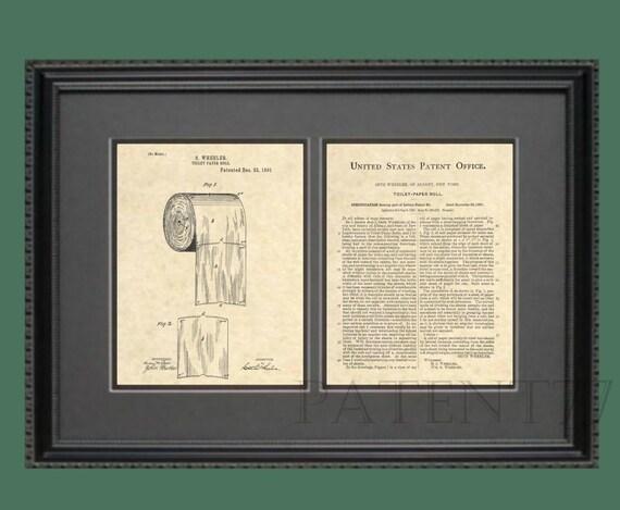 Carta igienica brevetto bagno arte carta igienica rotolo etsy