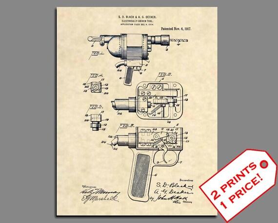 Carpenter Antique Tool 98 Official Phillips Screwdriver US Patent Art Print