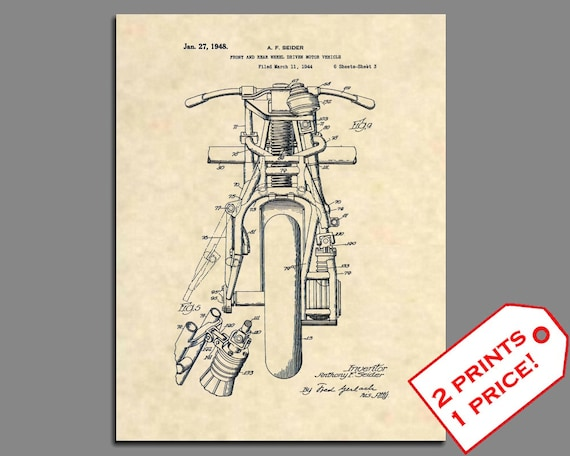 indian motorcycle 1948 indian motorcycle patent indian etsy rh etsy com