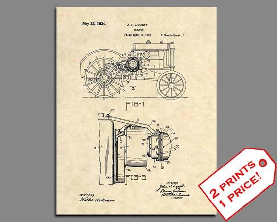 Antique Vintage Farm 497 Official 1930 John Deere Tractor US Patent Art Print