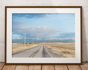 Country Roads, Worn Out, Mid West, Art Print, Wall Decor, Home Decor