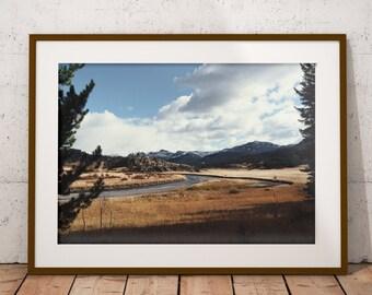 Yellowstone, National Park, River Trail, Art Print, Wall Decor, Home Decor