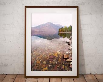 Lake Mcdonald, Montana, Art Print, Home Decor, Wall Art