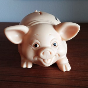 cute mouse coin bank ceramic mid century piggy bank vintage glazed stylized modern