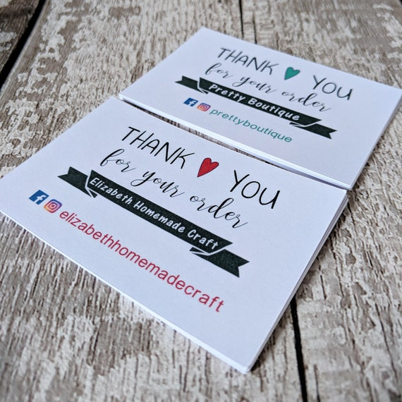 Cartes De Visite Je Vous Remercie Pour Votre Commande