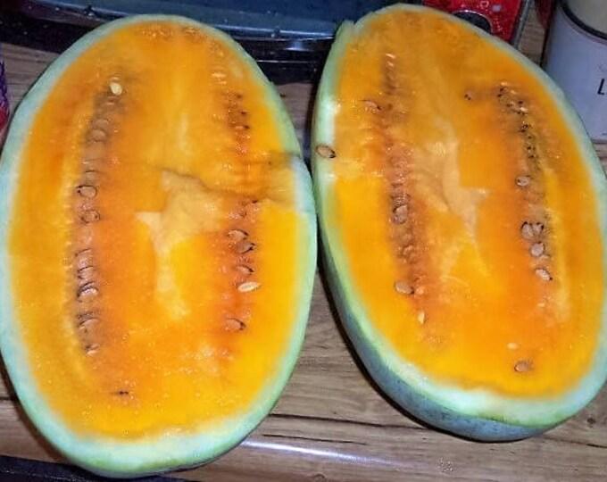 50 TENDERSWEET ORANGE WATERMELON Orange Flesh Citrullus Lanatus Fruit Melon Seeds