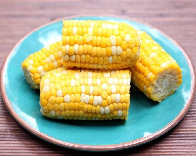 60 BILICIOUS BICOLOR CORN Sweet Yellow & White Zea Mays Vegetable Seeds