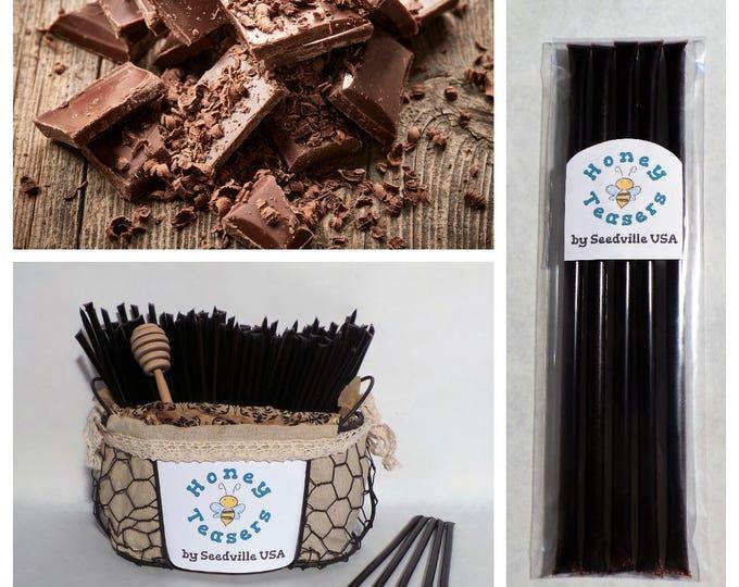 5 Pack CHOCOLATE HONEY TEASERS Natural Honey Snack Sticks Honeystix Straws