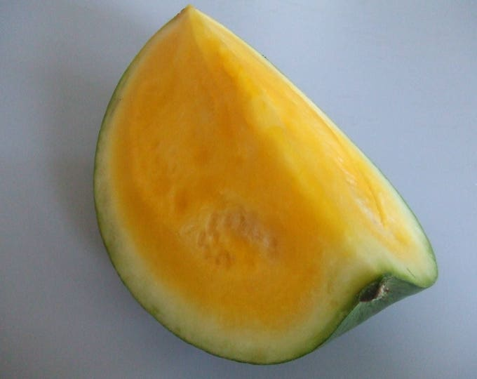 50 Yellow Flesh YELLOW CRIMSON WATERMELON Melon Fruit Vine Seeds