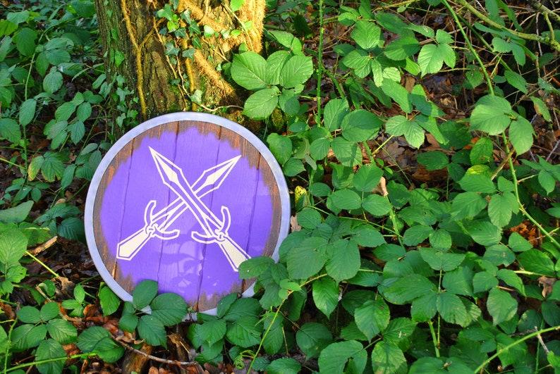 Steel Wood and Leather Skyrim Winterhold shield replica  Norse Viking Medieval Fantasy Oblivion Morrowind Elder Scrolls Metal Wooden d/&d