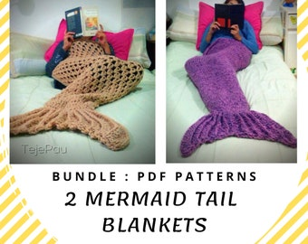 bc45a43f7b6d16 KNITTING PATTERN crochet baby mermaid tail blanket open photo