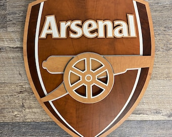 Arsenal Wooden 3D and Inlay logo