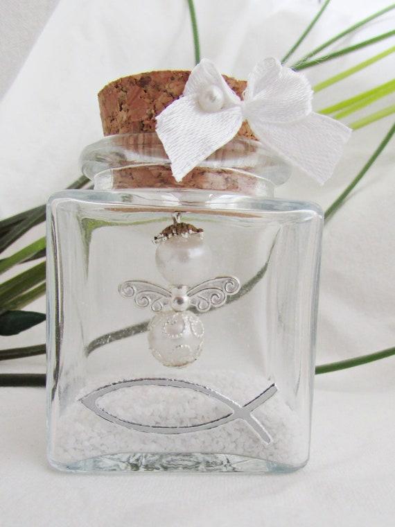 Weiser Schutzengel Im Glasfisch Gastgeschenk Taufe Hochzeit Dankeschön Verlobung Kommunion Geschenk Firmung Hebamme Perlenengel Engel Danke