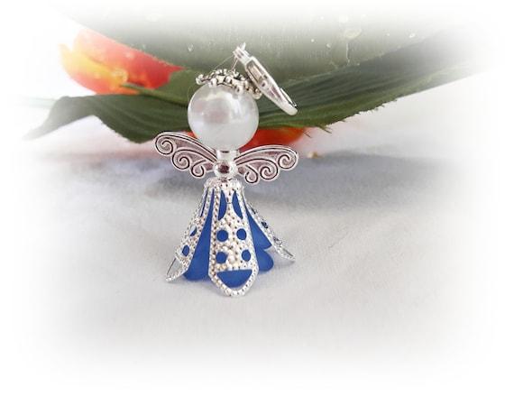 10 Xblau Edle Schutzengelgastgeschenktaufehochzeit Perlenengel Kommunion Verlobung Weihnachten Nikolaus Geschenk Dankeschön