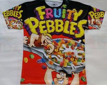 9d6e9c8b Fruity Pebbles Black sublimation T shirt