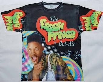 b8cda9125603 Fresh Prince of Bel Air Black sublimationTank T shirt