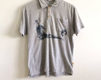 7d01548c Vintage Hang Ten Polo Shirt Surf SkateHang Ten Stripe