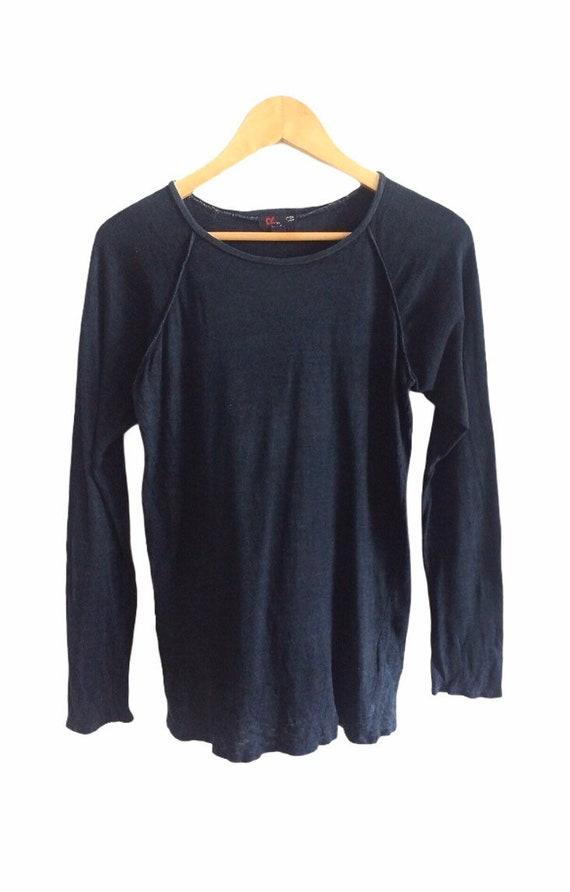 Vintage 45rpm Denim Longsleeve T Shirt Rare