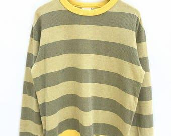 Vintage Beams Plus Stripe Sweatshirt Spellout Big Logo Sweatshirt Hip Hop Mods Casuals Style