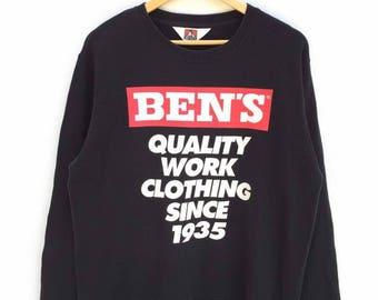 Vintage Ben Davis Sweatshirt Spellout Sweatshirt Hip Hop Streetwear Big Logo