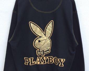 Vintage Playboy Sweatshirt Hip Hop Playboy Spellout Playboy Big Logo