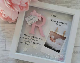 Christening Gift | Baby Gift | Wooden Initial Gift | Baptism Gift | Naming Day Gifts | Communion Gift | Present For Baby Girl | Baby Boy