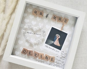 Wedding Gifts, Wedding Gift, Anniversary Gift, Wedding Frame, Personalised Wedding, Mr And Mrs Frame, Gifts For Couple, Wedding Party Gifts