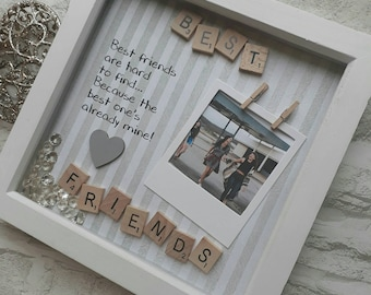 Best Friend Gift | Present For Best Friend | Best Friend Frame | Gift For Bestie | Personalised Best Friend | Best Friend Scrabble Frame