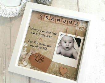 Personalised Grandma Frame, Gift For Nanna, Present For Grandma, Birthday Gift Mom, Present For Mother, Mothers Day Gift ,Gift For Nana