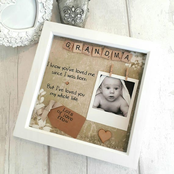 Personalised Grandma Frame Gift For Nanna Present For