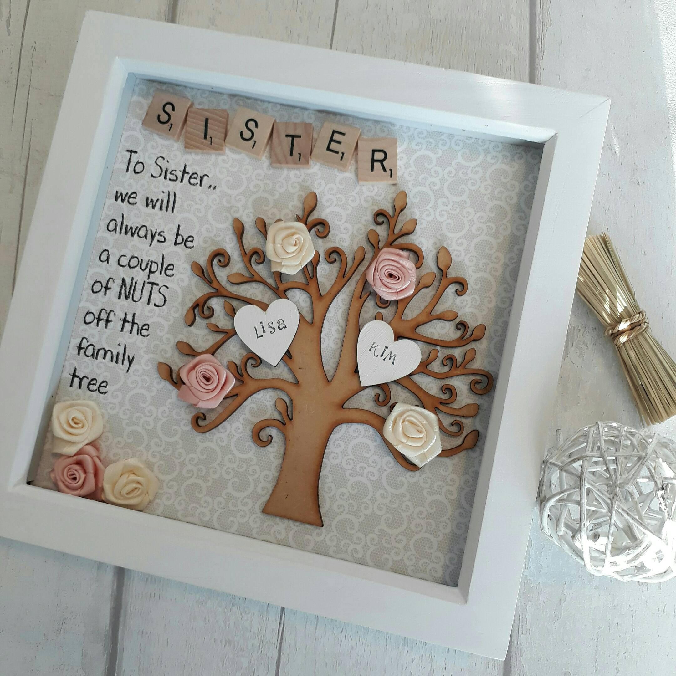 Gift For Sister Family Tree Frame