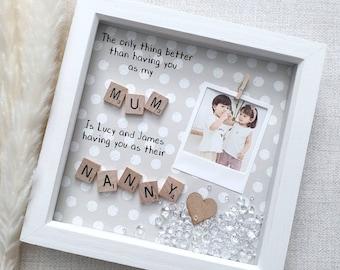 Gift For Mummy, Mummy Gift, Grandma Frame, Nana Frame, Gift For Nana, Mothering Sunday Gift, Present For Gran, Mothers Day Frame