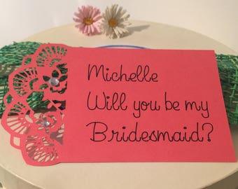 6x Custom Bridesmaid Cards