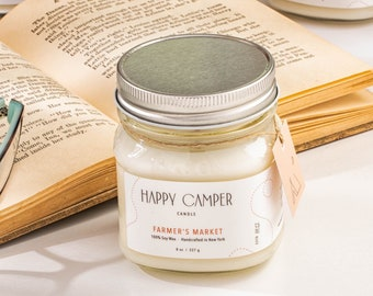 Farmer's Market I Watermint & Clementine | Soy Candle | Handmade Candle| Natural Candle | Gift Idea | Boho Decor | Minimalist