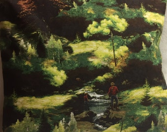 Dad and Son Fishing, Pillow 14 x 14 (#001)