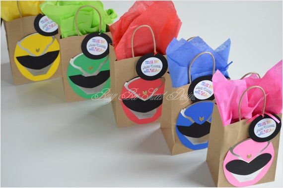 Power Rangers Party Favor Bags Birthday Theme