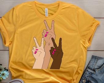 Feminist Shirts - Peace -  Feminist - Girl Power - Gifts for her - Bestfriend Gift - Feminist Gift - T shirt - Shirt - T-Shirt - Gift - Tee