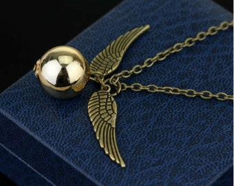 Harry Potter snitch - Gold Snitch - Snitch Necklace - Harry Potter gift - Jewelry -Harry Potter - Gift for Her - Gift for him - birthday-new