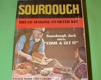 Sourdough bread making starter kit vintage original box with book instructions Jacks Cookery rare find