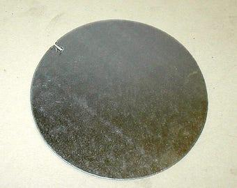 "4"" diameter galvanized sheet metal circle 22 gauge arts crafts hobby project"