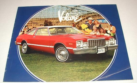 1978 plymouth volare autohaus verkaufsprospekt werbung buch   etsy