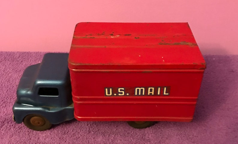 6e73ba5820 US Mail postal service press steel vintage truck cab tractor